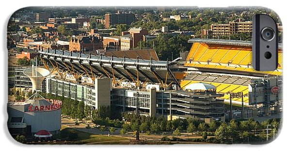 Heinz Field iPhone Cases - Heinz Field On The North Shore iPhone Case by Adam Jewell