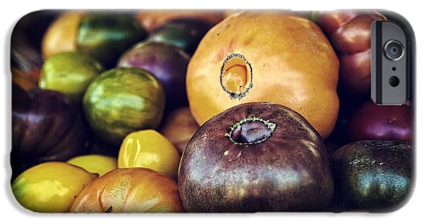 Farm Stand Photographs iPhone Cases - Heirloom Tomatoes at the Farmers Market iPhone Case by Scott Norris