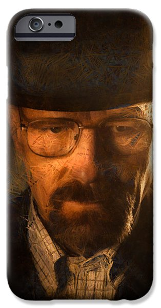 Tv Show iPhone Cases - Heisenberg iPhone Case by Ian Hufton