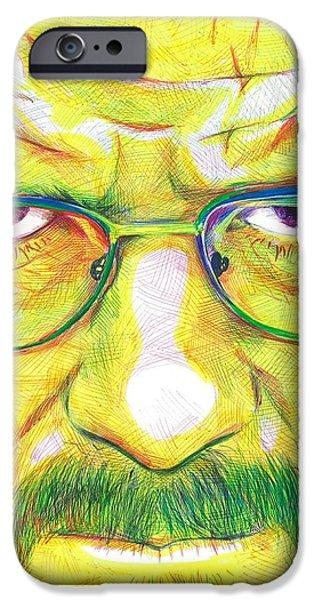 Aaron Drawings iPhone Cases - Heisenberg iPhone Case by Kyle Willis