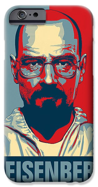 Obama iPhone Cases - Heisenberg iPhone Case by Taylan Soyturk