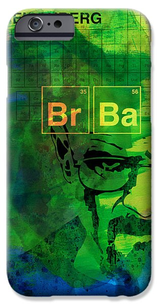 Tv Show iPhone Cases - Heisenberg Watercolor iPhone Case by Naxart Studio