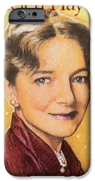 First Lady Paintings iPhone Cases - Helen Hayes iPhone Case by Lanjee Chee