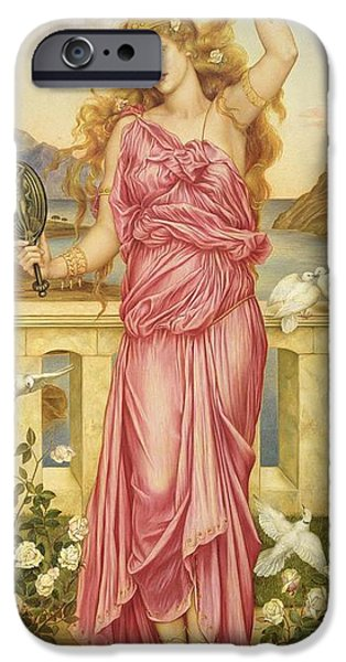 Balcony iPhone Cases - Helen of Troy iPhone Case by Evelyn De Morgan