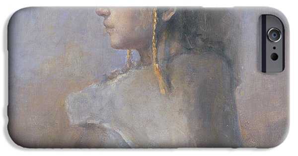 Old Blue Eyes iPhone Cases - Helene In Profile  iPhone Case by Odd Nerdrum
