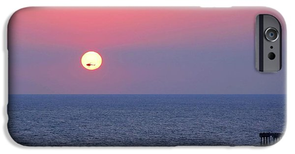 Panama City Beach iPhone Cases - Helicopter in the Sun iPhone Case by Elizabeth Budd