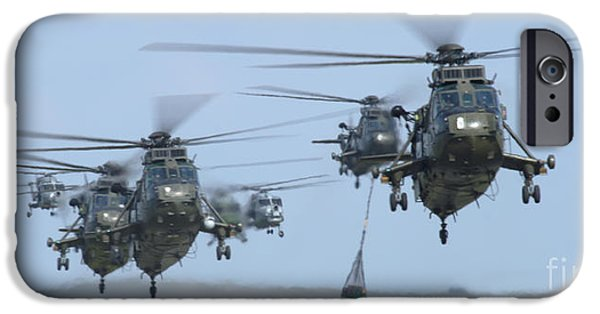 Helicopter iPhone Cases - Helicopters iPhone Case by Angel  Tarantella