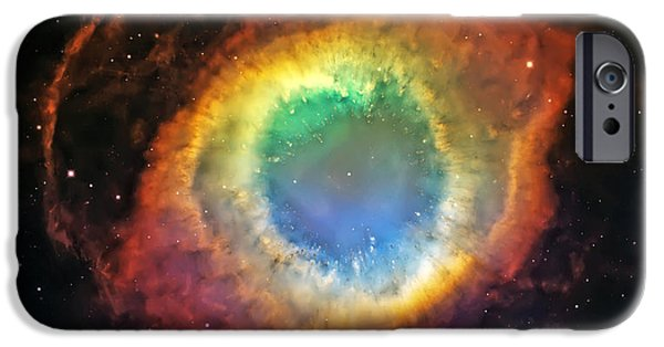 The Heavens iPhone Cases - Helix Nebula 2 iPhone Case by The  Vault - Jennifer Rondinelli Reilly