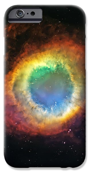 Helix Nebula 2 iPhone Case by The  Vault - Jennifer Rondinelli Reilly