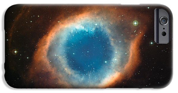 Galactic Paintings iPhone Cases - Helix Nebula iPhone Case by Celestial Images