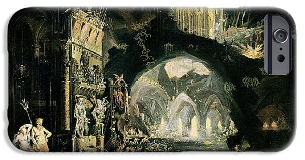 Cavern iPhone Cases - Hell, 1622 Oil On Canvas See 89774 For Detail iPhone Case by Francois de Nome