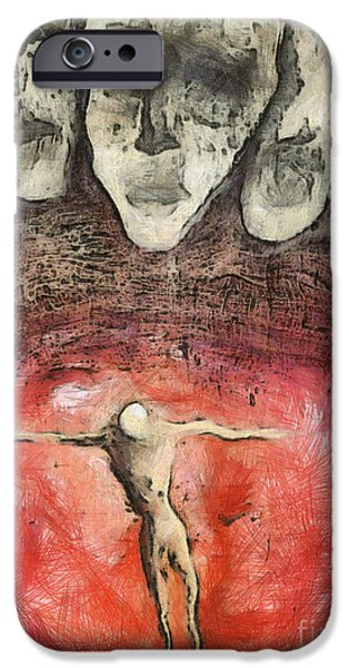 Innocence Mixed Media iPhone Cases - Hell Are The Others iPhone Case by Michal Boubin