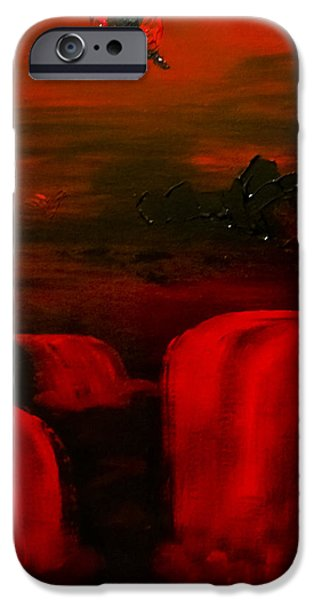 Metallica Paintings iPhone Cases - Hell Cat iPhone Case by Sonja Freisinger