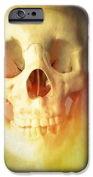 Creepy iPhone Cases - Hell Fire iPhone Case by Edward Fielding