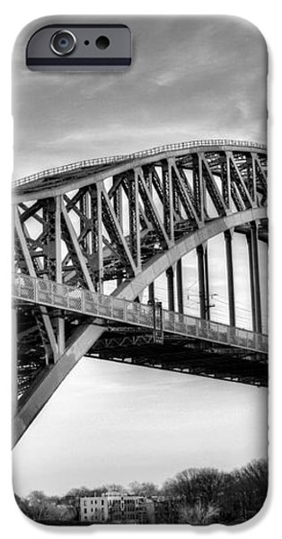 Hell Gate BW iPhone Case by JC Findley