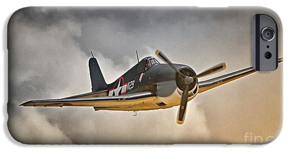 Yorktown iPhone Cases - Hellcat Dawn Patrol iPhone Case by Gus McCrea