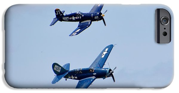 World War One iPhone Cases - Helldiver and a Corsair iPhone Case by Matt Abrams