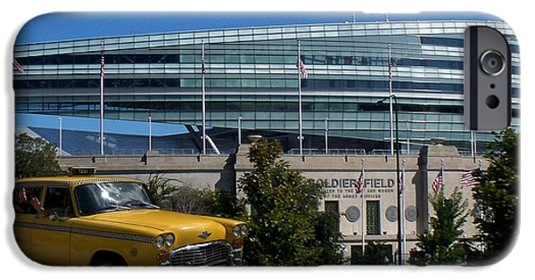 Soldier Field Digital Art iPhone Cases - Hello From Chicago Soldier Field iPhone Case by Thomas Woolworth