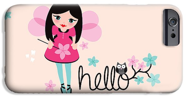 Baby Bird Pastels iPhone Cases - Hello Tooth Fairy Princess iPhone Case by Maaike Boot