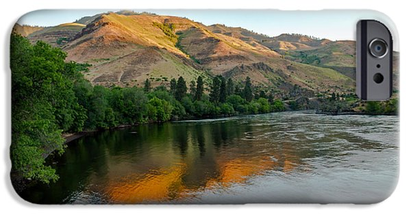 Deep River iPhone Cases - Hells Canyon Morning Reflections iPhone Case by Robert Bales