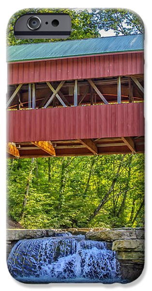 Helmick Mill or Island Run Covered Bridge  iPhone Case by Jack R Perry