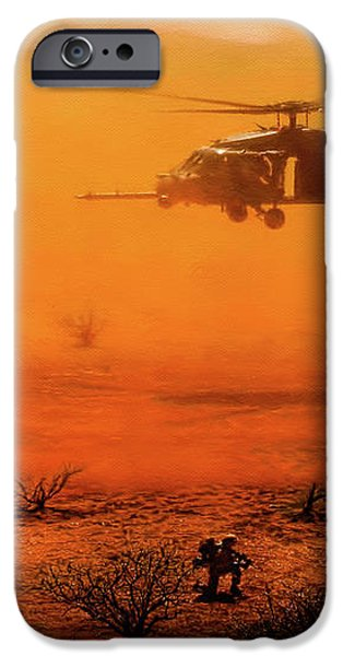 Help Arrives iPhone Case by Dale Jackson