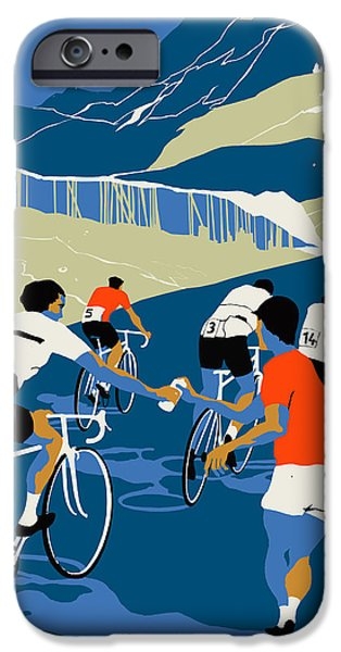 Cycle iPhone Cases - Helping Hand iPhone Case by Eliza Southwood
