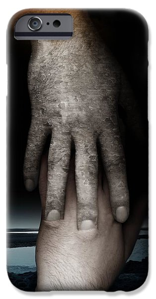 Bonding iPhone Cases - Helping Hand iPhone Case by Johan Lilja