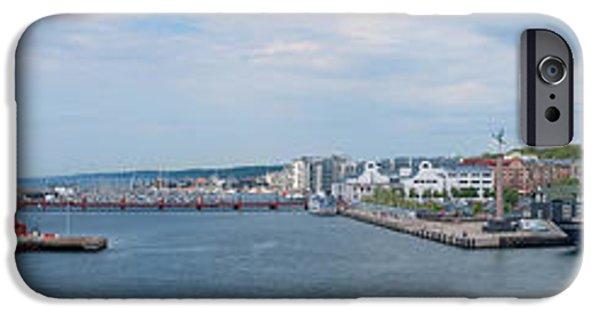 Port Town iPhone Cases - Helsingborg Panorama 01 iPhone Case by Antony McAulay