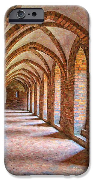 Christian Artwork Digital Art iPhone Cases - Helsingor Monastery Painting iPhone Case by Antony McAulay