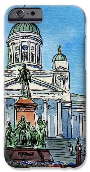 Helsinki Finland iPhone Case by Irina Sztukowski