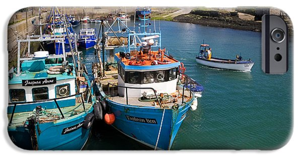 Trawler iPhone Cases - Helvick Harbour, Ring Gaeltacht Region iPhone Case by Panoramic Images
