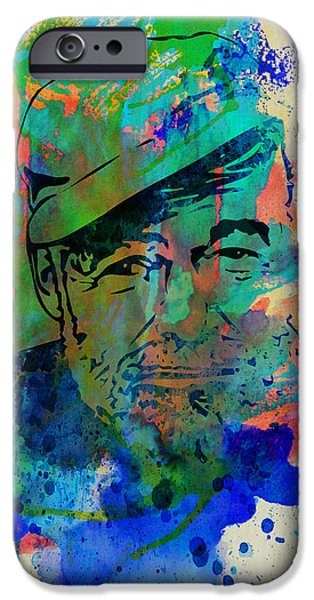 Author iPhone Cases - Hemingway Watercolor iPhone Case by Naxart Studio