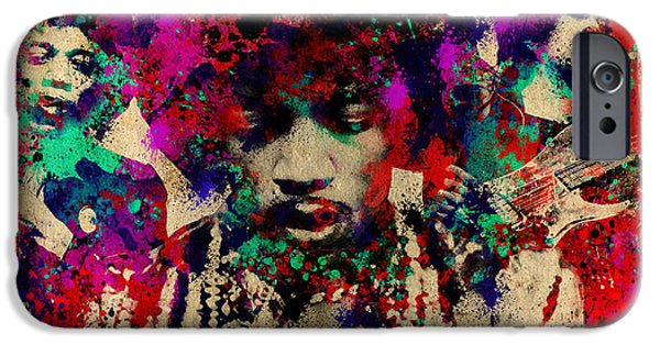 Figure iPhone Cases - Hendrix 2 iPhone Case by MB Art factory