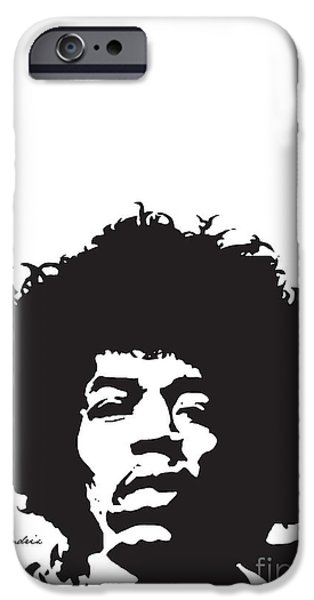 Hendrix No.01 iPhone Case by Caio Caldas