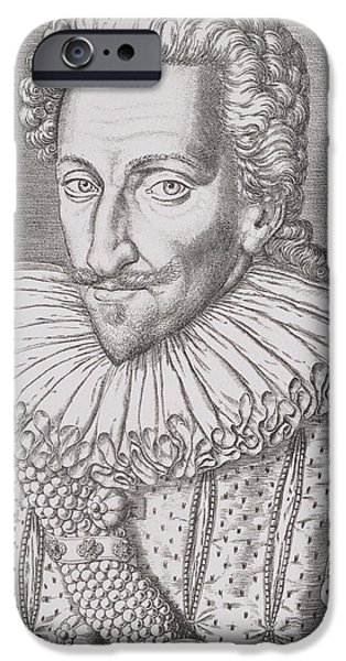 Flemish iPhone Cases - Henri IV iPhone Case by Theodore De Bry