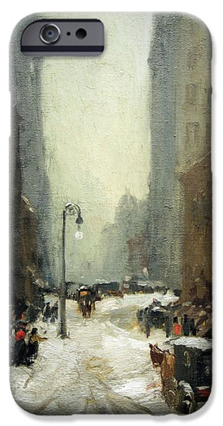 Recently Sold -  - Painter Photographs iPhone Cases - Henris Snow In New York iPhone Case by Cora Wandel