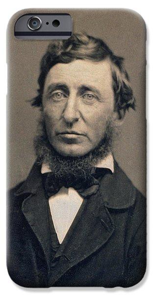 Henry David Thoreau iPhone Cases - Henry David Thoreau iPhone Case by Benjamin D Maxham