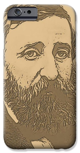 Walden Pond iPhone Cases - Henry David Thoreau iPhone Case by Dan Sproul