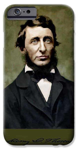 Henry David Thoreau iPhone Cases - Henry David Thoreau iPhone Case by John Feiser