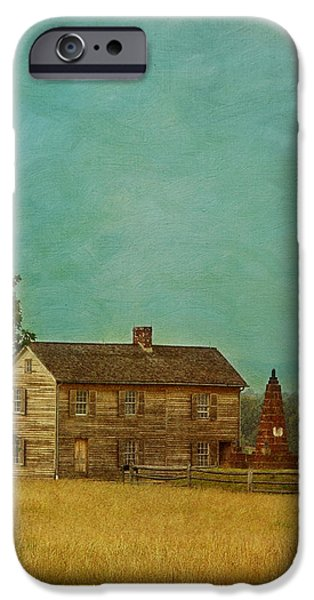 Henry House at Manassas Battlefield Park iPhone Case by Kim Hojnacki