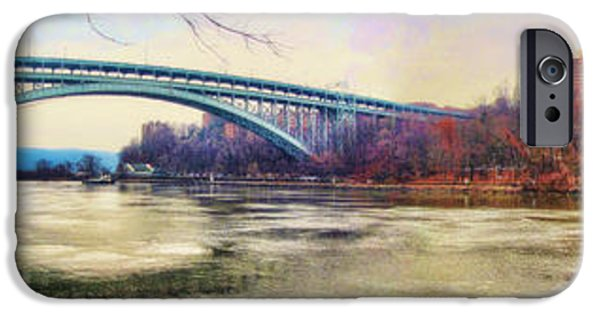 City Scape Digital Art iPhone Cases - Henry Hudson Bridge and the Palisades iPhone Case by Nishanth Gopinathan