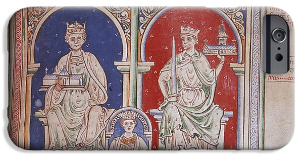 The Royal Family iPhone Cases - Henry Ii And Richard I iPhone Case by British Library