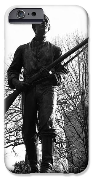 Statue Of Confederate Soldier iPhone Cases - Henry Lawson Wyatt Statue iPhone Case by Robert Yaeger