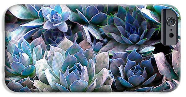 Textural iPhone Cases - Hens and Chicks series - Evening Light iPhone Case by Moon Stumpp