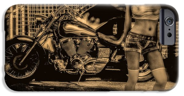 Canon iPhone Cases - Her Bike iPhone Case by Bob Orsillo
