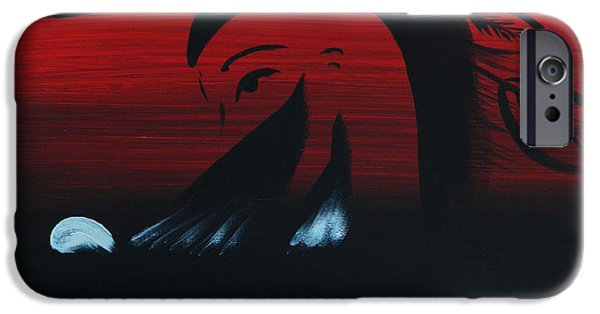Soaring Paintings iPhone Cases - Her Eagle Spirit iPhone Case by A Cyaltsa Finkbonner