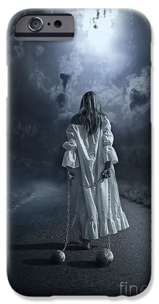 Drama Mixed Media iPhone Cases - Her Fortune iPhone Case by Svetlana Sewell