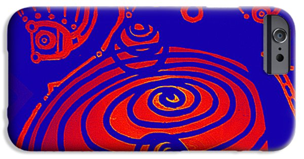 Digitally Signed Mixed Media iPhone Cases - Her Navel Gravity Vibrates Pulsates  iPhone Case by Feile Case