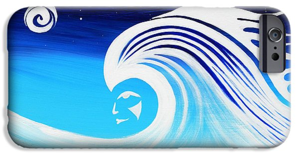 Recently Sold -  - Connection iPhone Cases - Her Wave iPhone Case by A Cyaltsa Finkbonner
